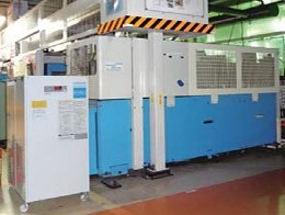 Example of upgrading the built-in chiller in a CNC lathe.